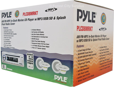 PLCD8MRKT - Pyle® Marine Audio Systems with MP3 CD Player