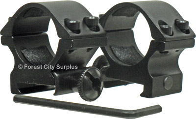 Low Picatinny Mount Scope Rings