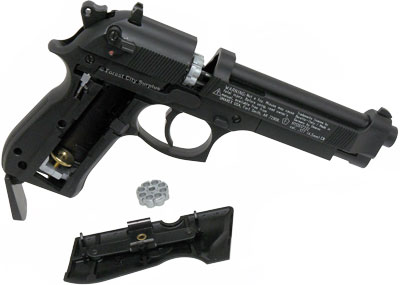 Umarex Beretta® M92 FS Nickel-plated Pellet and Steel BB Handguns